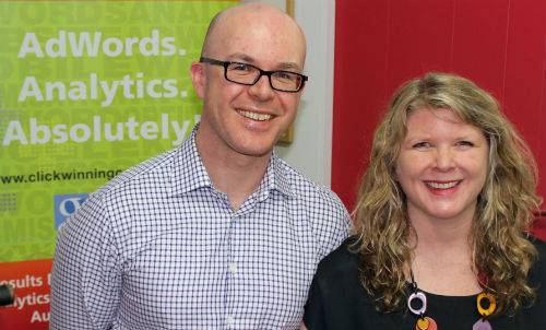 Mel and Andrew from AdWord Partner agency Click-Winning Content